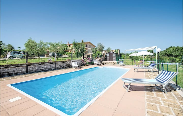 Amazing home in Civita Castellana VT with WiFi and 4 Bedrooms