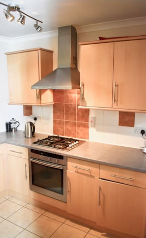 Fully equipped kitchen with views over Blackheath Park