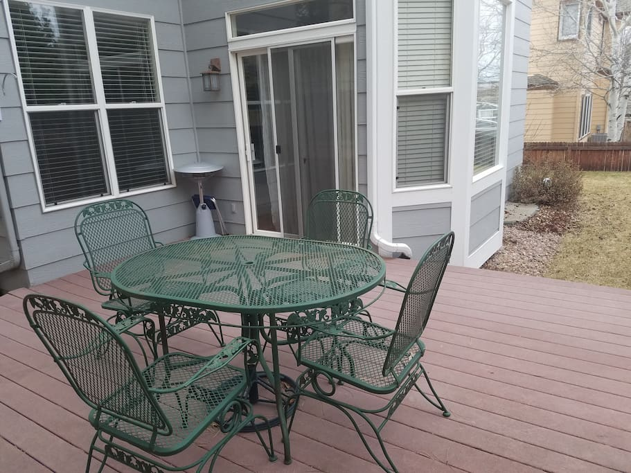 Backyard with deck and grill