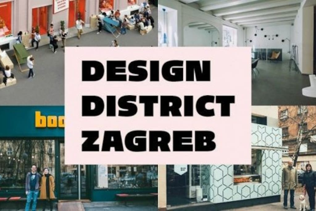 Apartment is close to Design district Zagreb.