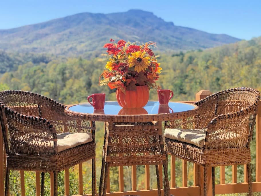 An Autumn day view of Grandfather Mountain