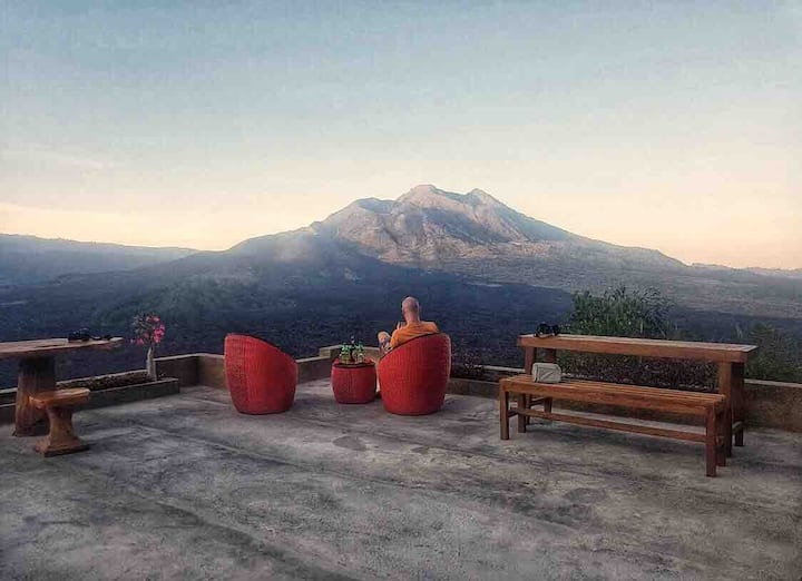 Black Lava Room with Mountain View, Kintamani