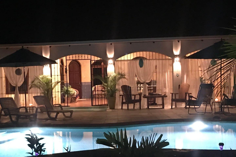 Pool at night !!!!!