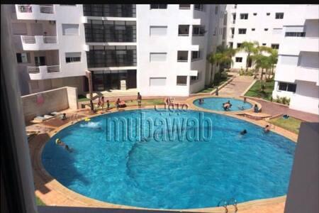 Appt 2p avec garage plage bouznika - Bouznika - Apartemen