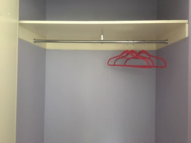 Built-in wardrobe with plenty of storage