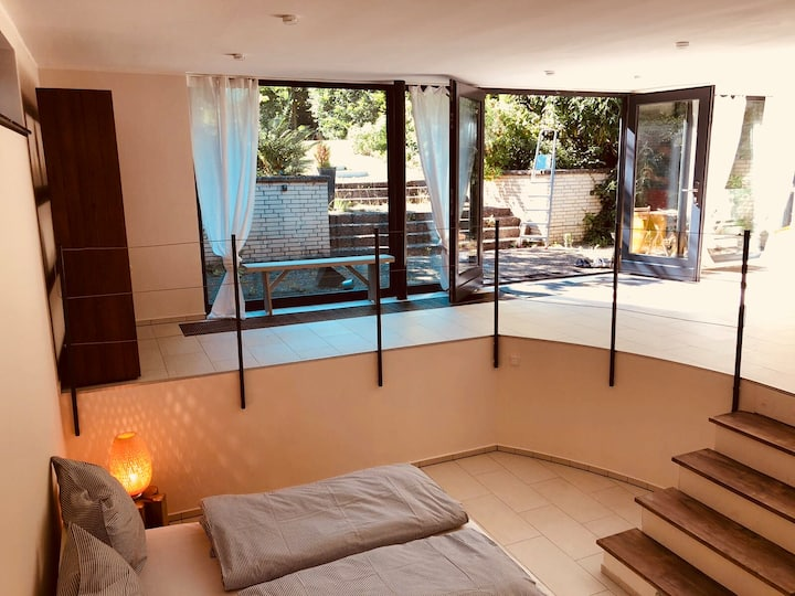 Loft with a generous view in the garden