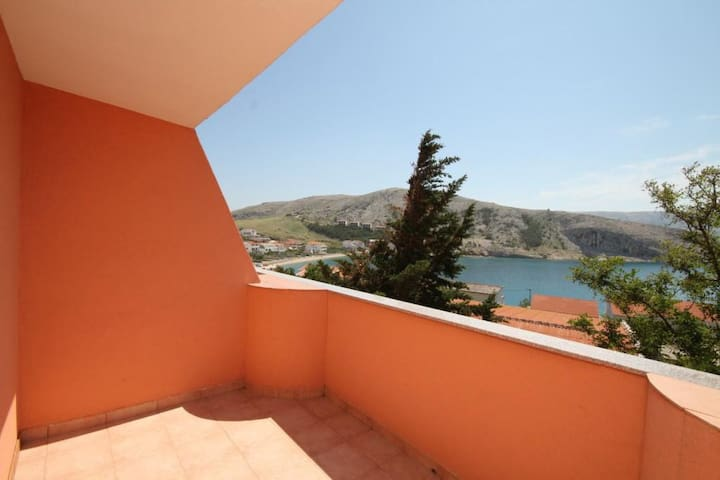 Room with terrace and sea view Metajna (Pag) (S-6487-h)