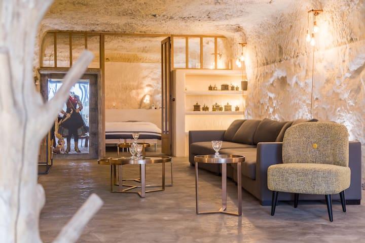 Amboise Troglodyte/Cave Apartment