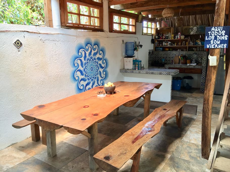 Meet other travelers and share stories in our dining area
