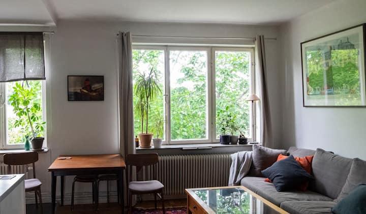Cosy apartment in trendy Midsommarkransen