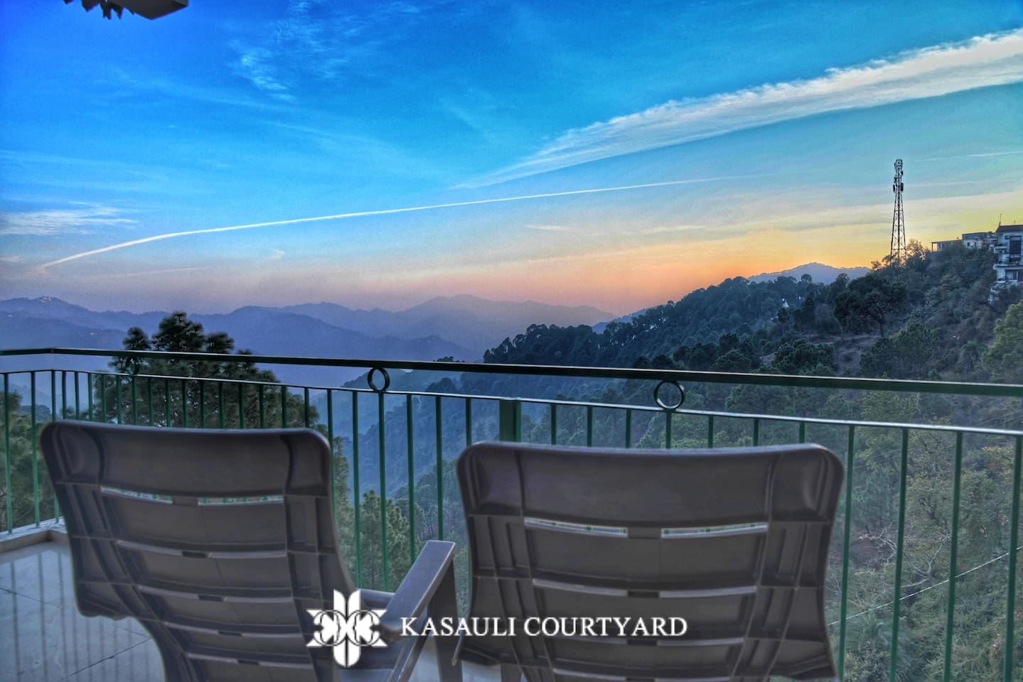 The vast expanse of sky riddled with hues. It is like observing a painting. Enjoy the views from your balcony or step onto the terrace to wind off the tiredness.