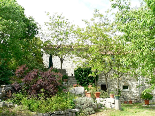 Pretty stone house with private pool and grounds - Labeaume - Ev