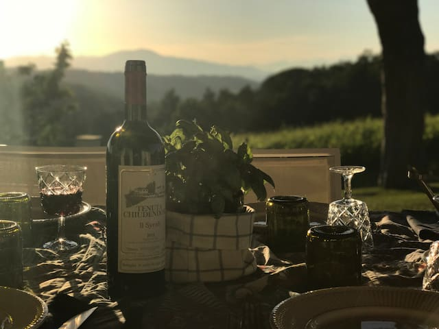 Our wine ready for wine tasting and italian cooking classes