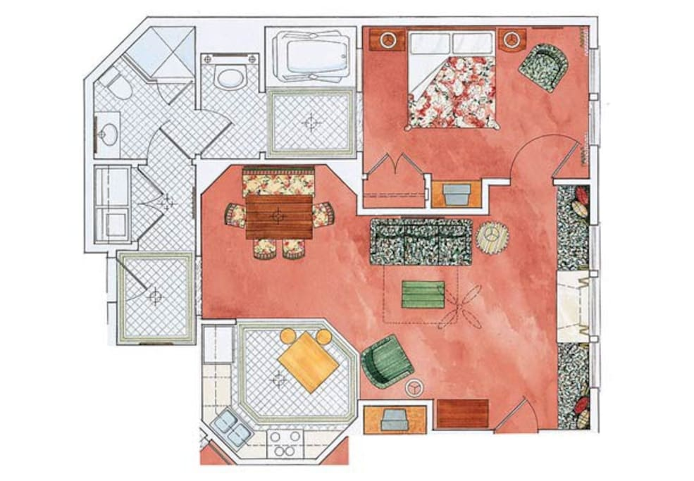 Floorplan - Spacious 1 Bedroom Condo