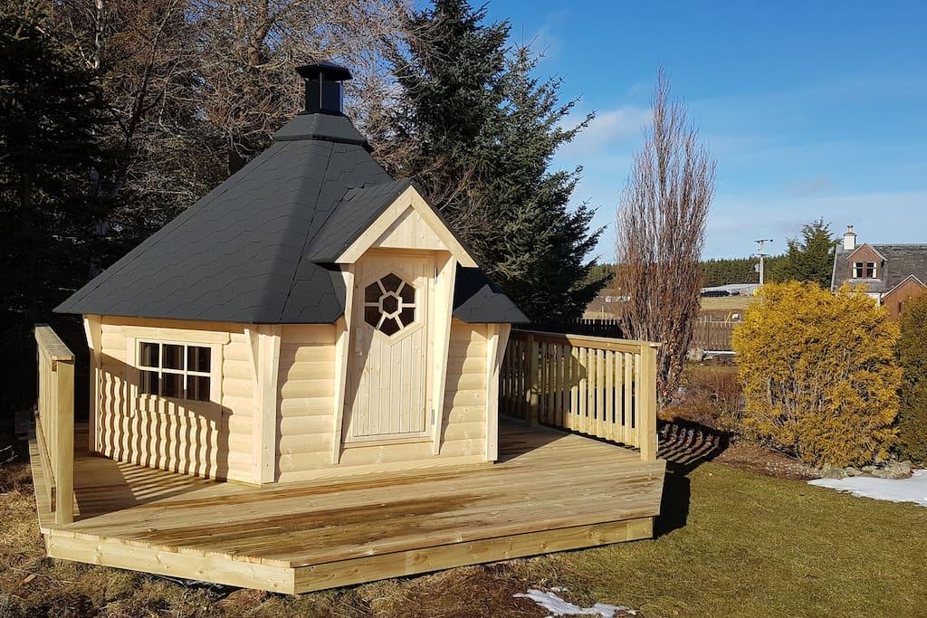 Scandi style BBQ hut