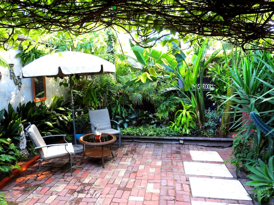 Enjoy a coffee and take in the greenery