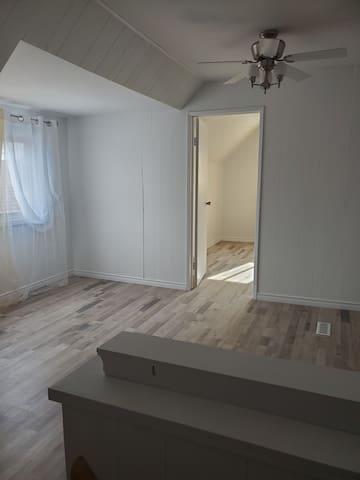 Upstairs - Private Bedroom & Livingroom