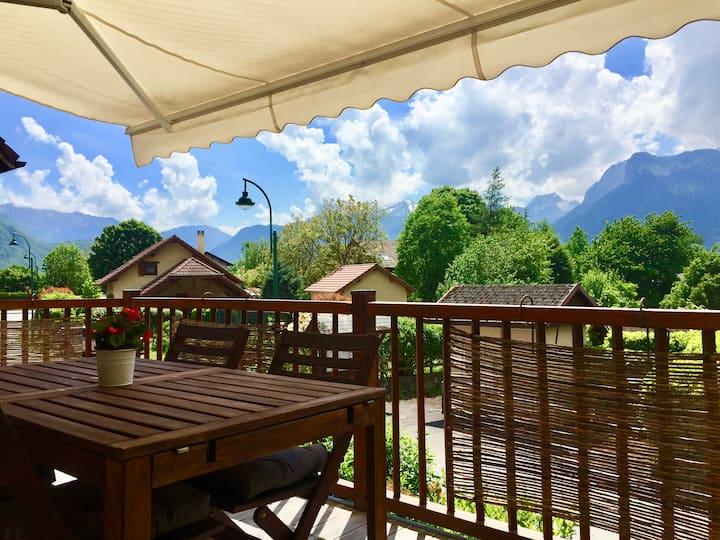 L'Etage-Spacieux-Lac Annecy-Calme-Tranquille