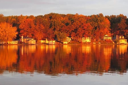 Fall Colors on Crooked Lake - House