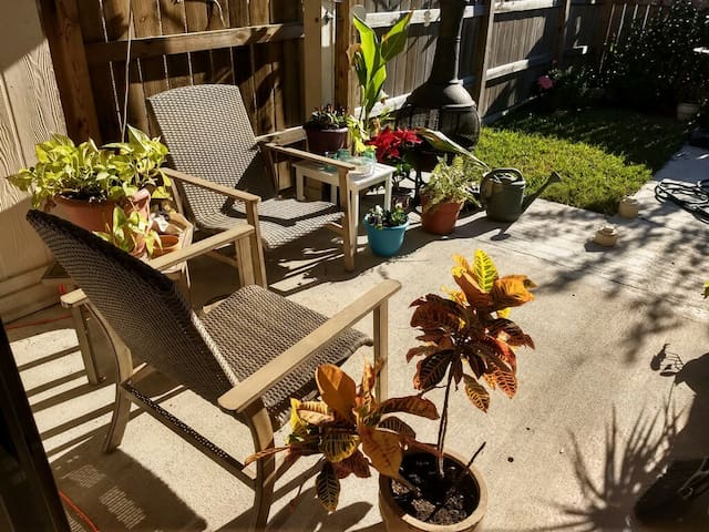 Sit outside and enjoy the morning sun with a cup of coffee or in the afternoon with with a refreshing drink.