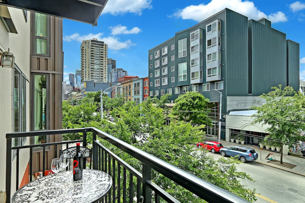 View from your balcony in the heart of Belltown