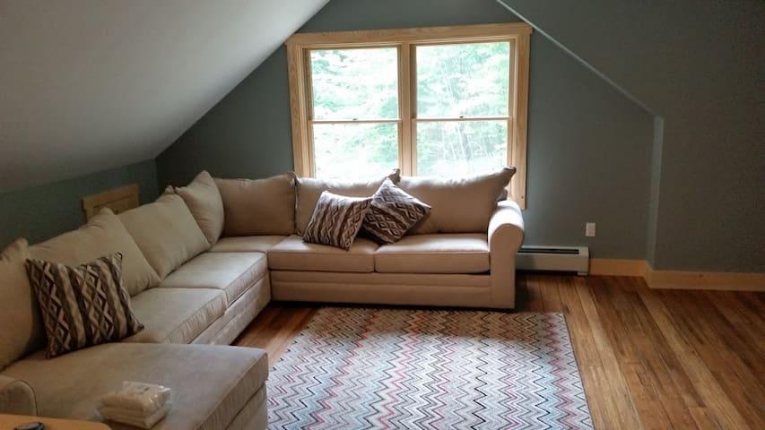 Second Floor Living Area w/Queen Sleep Sofa.