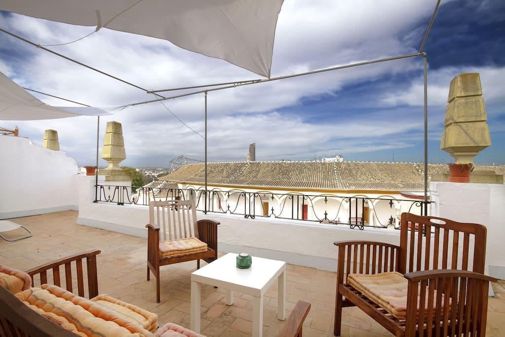 Terraza privada de 40 m2