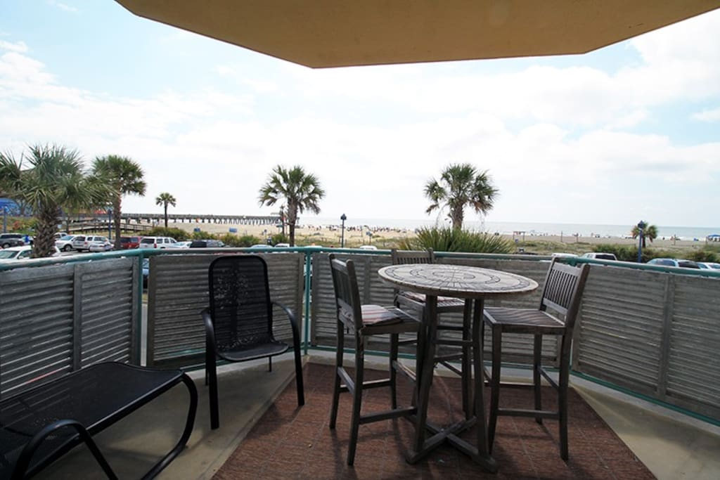 Enjoy Coffee or Cocktails while experiencing Fabulous Vistas of Tybee`s South Beach and the Atlantic Ocean