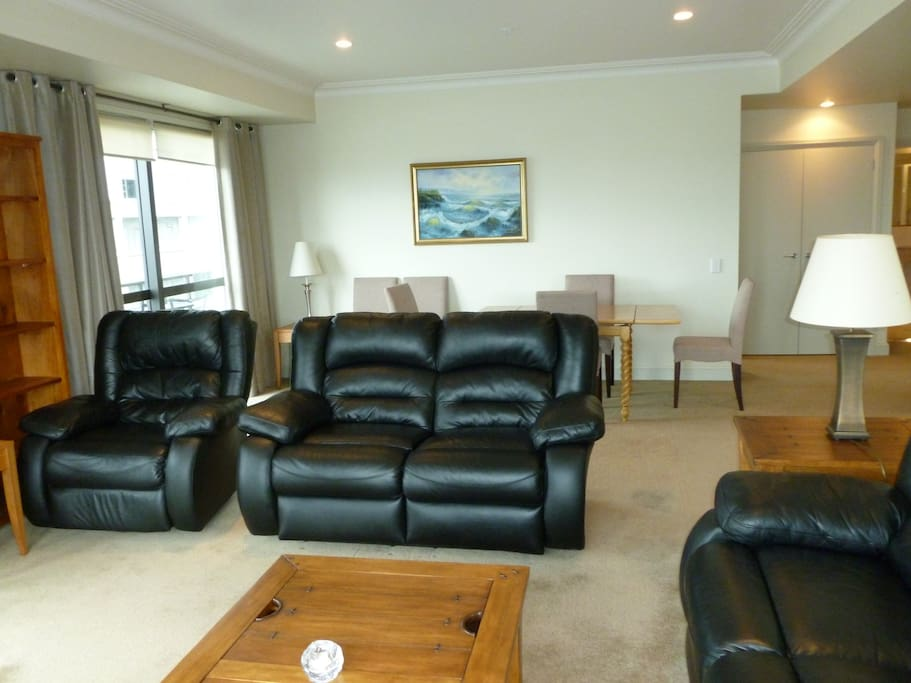 Open plan living area with SKY TV, movies and sport and unlimited wifi all included.