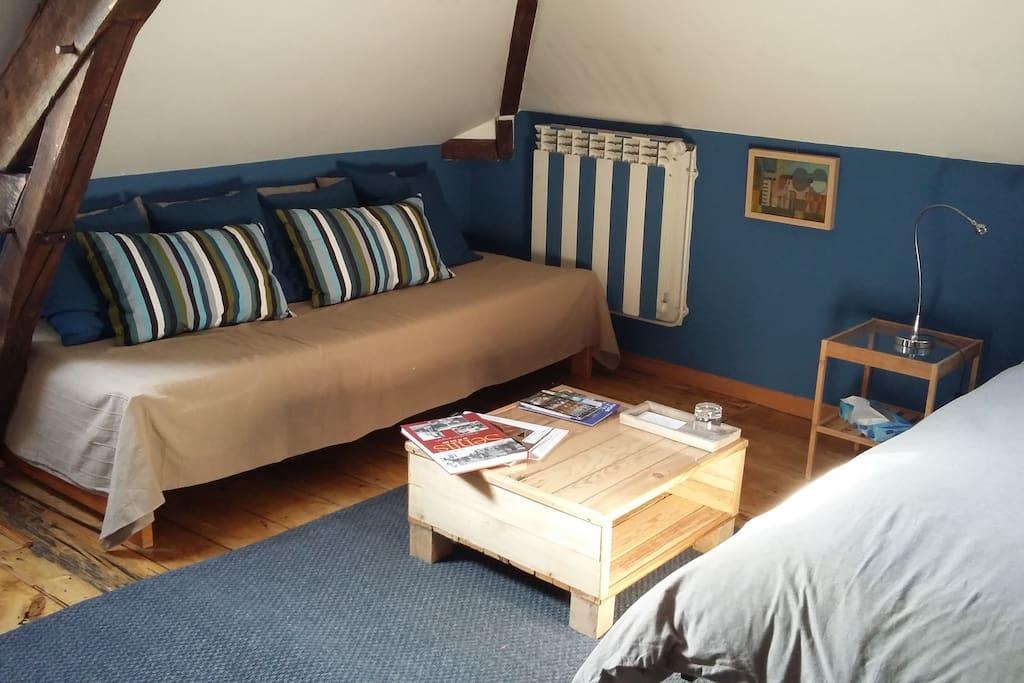 chambre grand lit et petit lit