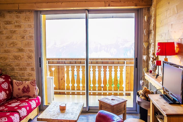 L'Alpe D'Huez Studio Cocooning Plein Sud - Huez - Apartment