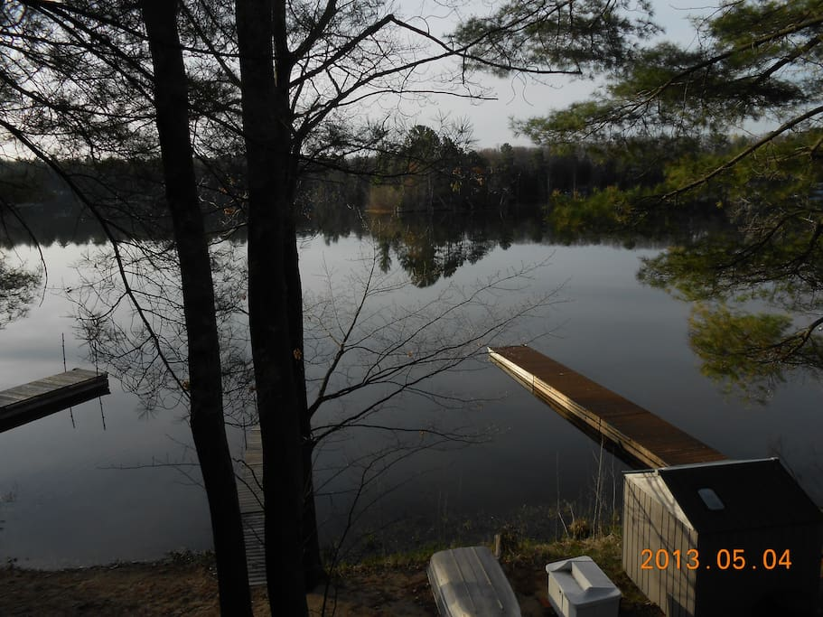 View from the deck and living room.