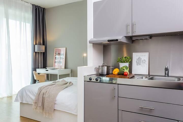 Gemütliches Apartment in Frankfurt mit Skylineview