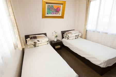 泉 Izumi 2 beds RM 1 for 2-3 people 24H to Airport - Izumisano - Maison