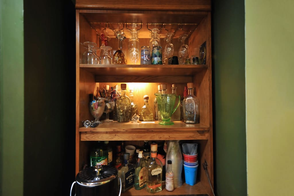 Bar!! We have some basics and lots of tools for making whatever you desire.  BYOB.