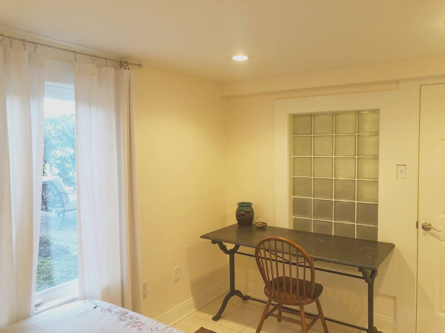 Bedroom with writing desk