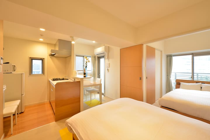 RH8-02) WiFi★Hakata Station20min, bus10min★6ppl★TV