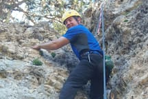 Niki, one of staff getting into some climbing