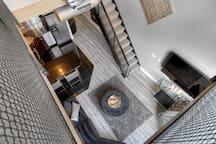 Open-spacious loft floor plan