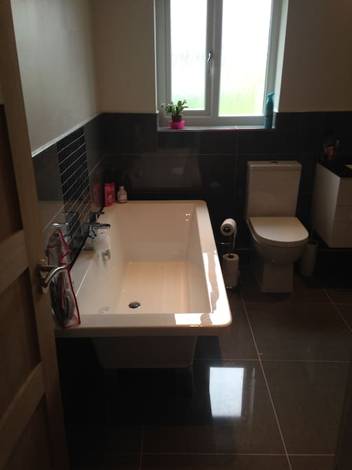 Your private bathroom! Free standing bath, newly renovated, clean and tranquil