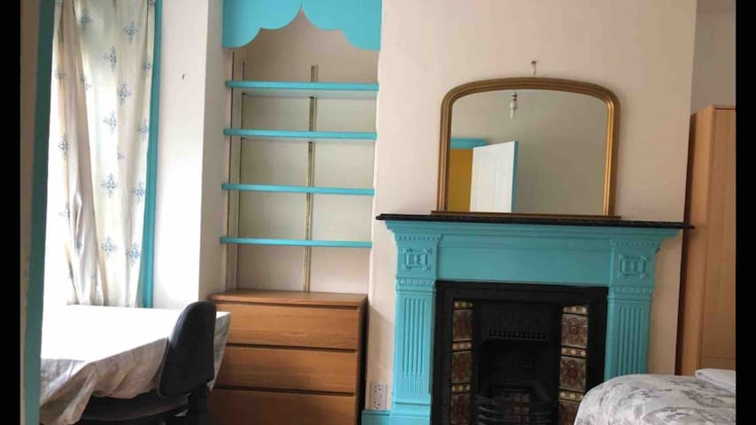 Master bedroom,double bed with desk  chair etc