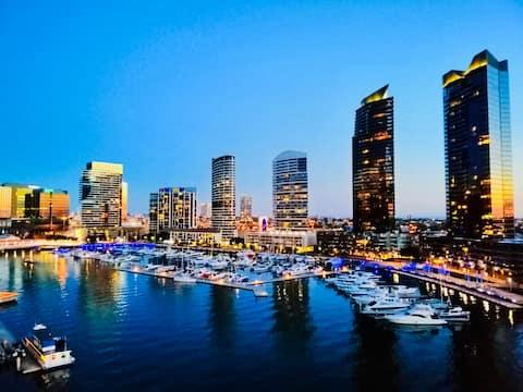 CBD 2BR+2BA APT with Waterfront View&Free Carpark