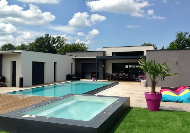 Villa d'architecte 250m2 piscine - Médoc Bordeaux