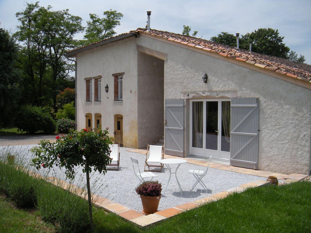 Suite la Grange et sa terrasse