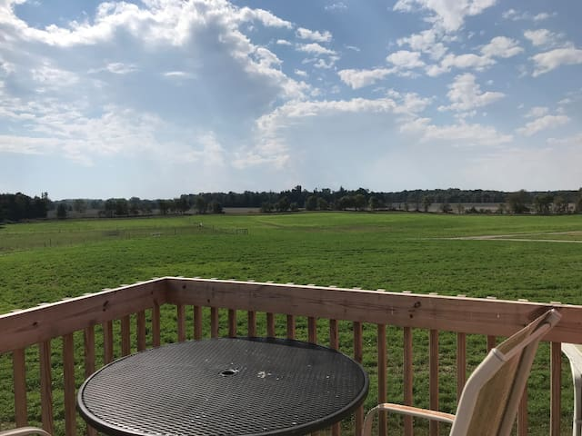 View from Bedroom outdoor deck. Enjoy sunrise and sunsets from here!