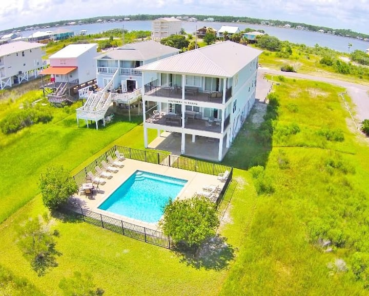 Southern Surprise 6 Bedroom 6.5 Bath Gulfview Private Pool and Elevator - 1969