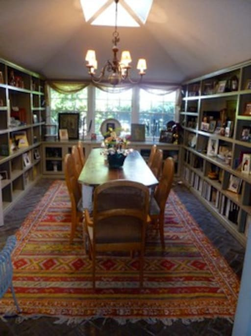 Dining Room/Library, table for 10.