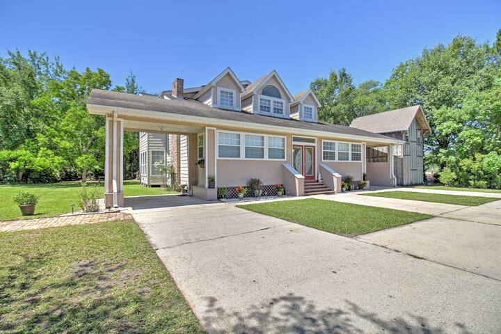 NEW! Spacious 7BR Waveland Home w/Two-Story Deck!