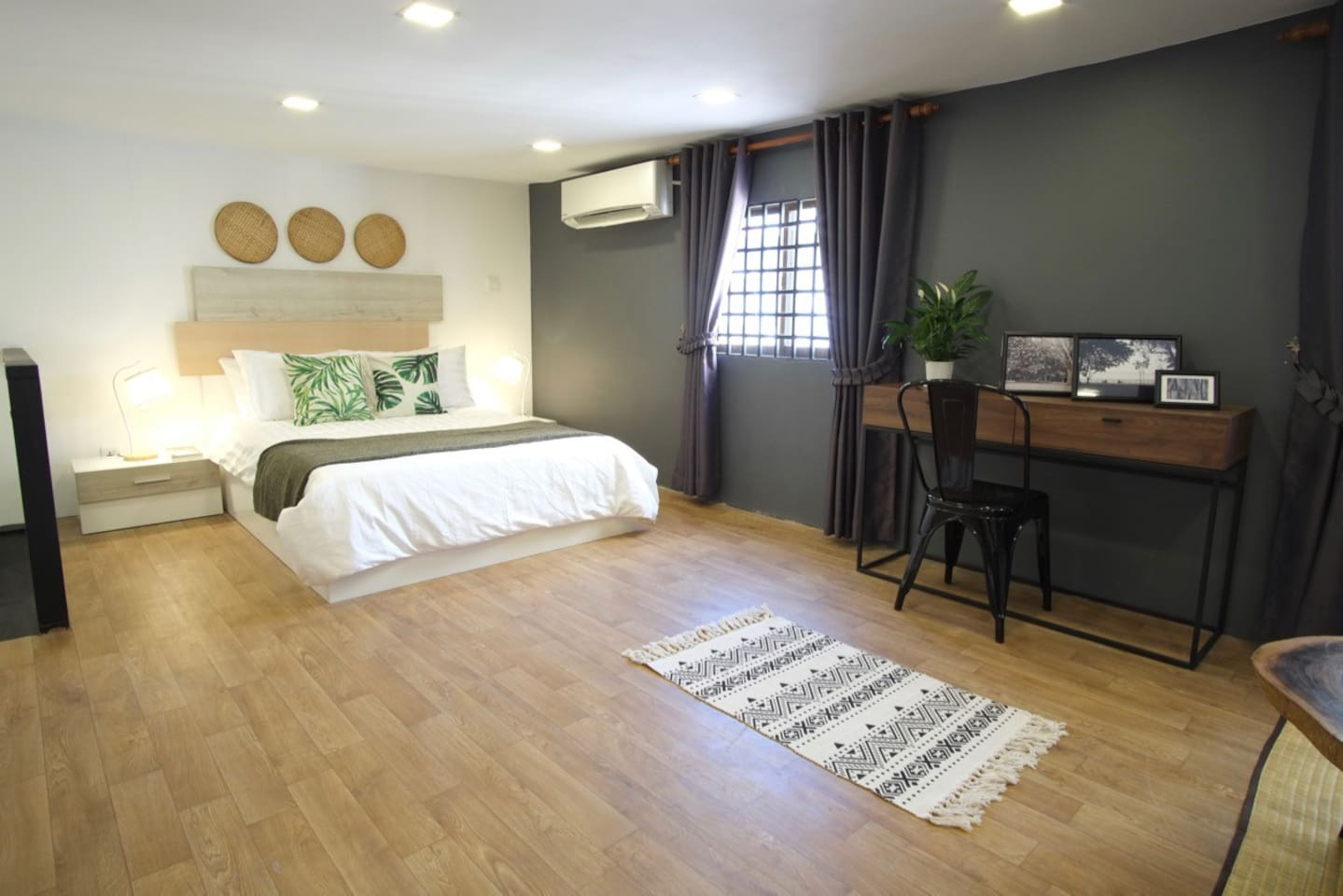 The studio apartment is located on the third floor of our shophouse.