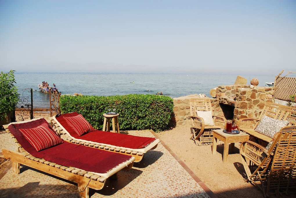 Enjoy one of the best views in Dahab and the easy life here at The Beach Retreat